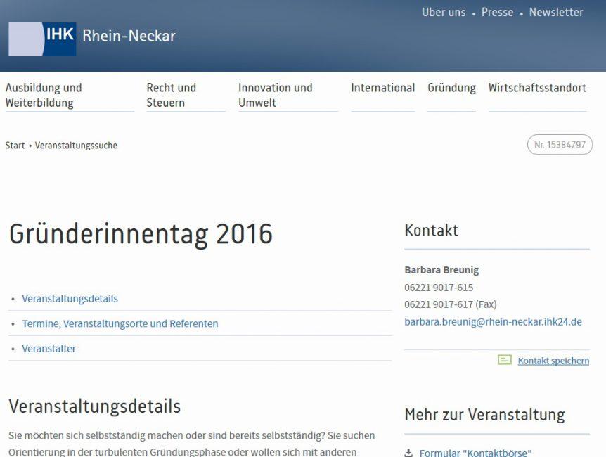 IHK Gründerinnentag 2016
